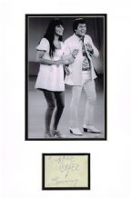 Sonny and Cher Autograph Signed Display